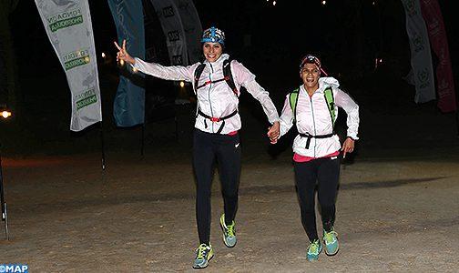 الثنائي فاطمة الزهراء لزرق وأسماء المحاتي يفوز بالمرحلة الثانية لسباق الصحراوية 2018