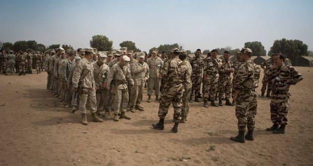 """إجراء التمرين المشترك المغربي- الأمريكي """"الأسد الإفريقي 2018"""" من 16 إلى 29 أبريل 2018 بمنطقة أكادير وتفنيت وطانطان وتزنيت وبنجرير والقنيطرة"""