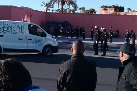 ضابط الامن الراحل عبد الحفيظ الكرجوم يوارى الثرى بمقبرة الإمام السهيلي