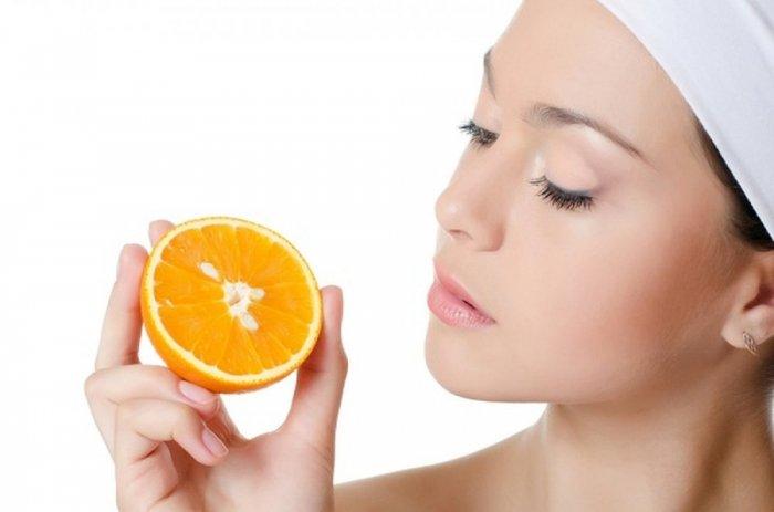 البرتقال لإزالة مكياج العين