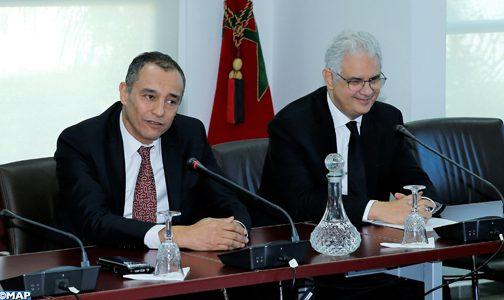 تسليم السلط بين السيدين نزار بركة وأحمد رضى الشامي ، الرئيس الجديد للمجلس الاقتصادي والاجتماعي والبيئي