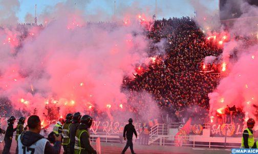 توقيف وإيداع 13 شخصا تحت تدبير الحراسة النظرية على خلفية أحداث الشغب التي أعقبت مباراة كرة القدم بين الجيش الملكي والرجاء البيضاوي