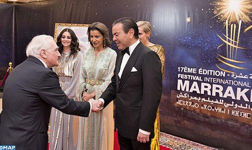 صاحب السمو الملكي الأمير مولاي رشيد يترأس حفل عشاء أقامه صاحب الجلالة بمناسبة الافتتاح الرسمي لفعاليات الدورة ال17 للمهرجان الدولي للفيلم بمراكش