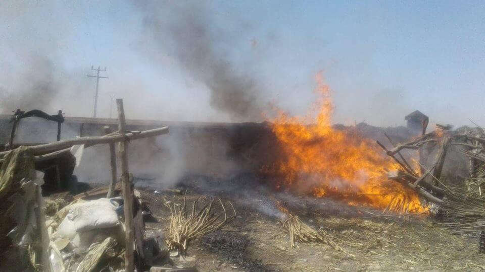عاجل..النيران تلتهم السوق الأسبوعي خميس شيشاوة