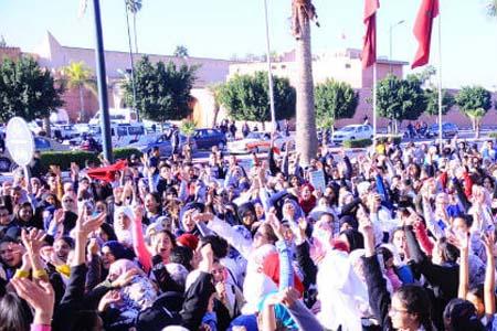 تلاميذ مراكش ينددون بالساعة الجديدة