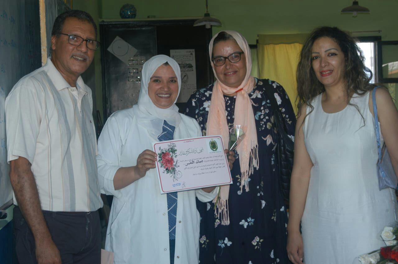 جمعية الفضل للتنمية الاجتماعية والبيئية تحتفل بالمدرس  من دوار السراغنة