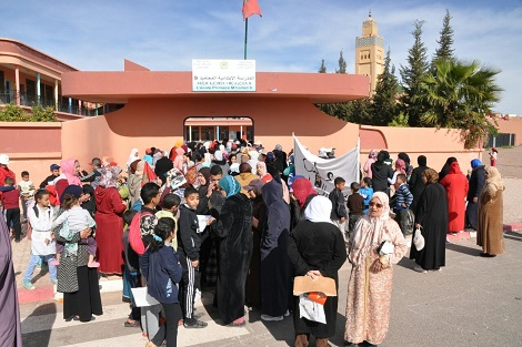 مراكش..احتجاجات لأمهات و أولياء التلاميد بالمحاميد