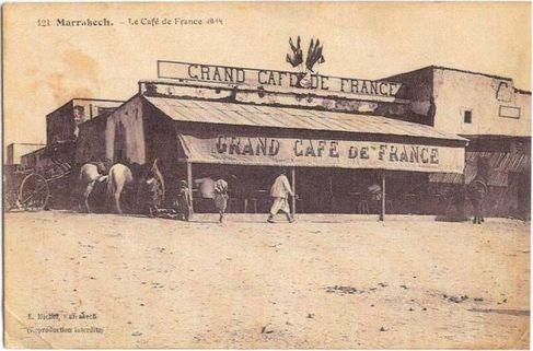 مقهى فرنسا بجامع الفناء