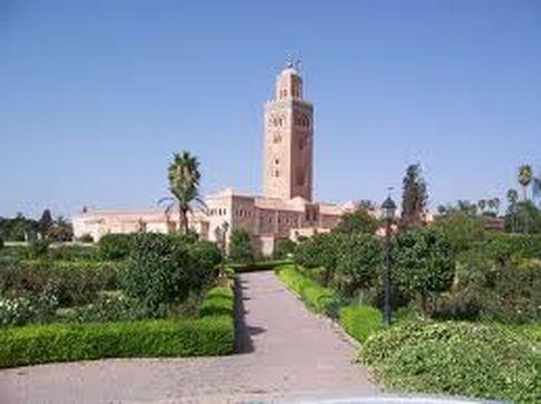 مسجد الكتبية والعراصي القريبة منه