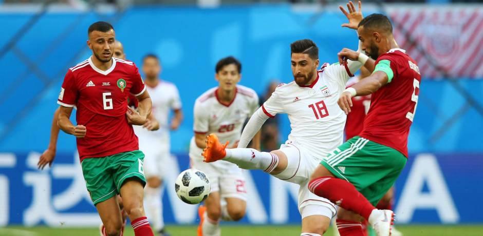 ملخص مباراة المغرب و إيران