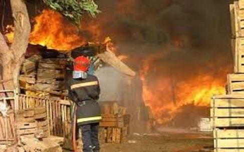 اندلاع حريق هائل بسوق شعبي بمراكش