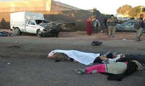 حادث سير تودي بحياة 4 أشخاص بضواحي مراكش