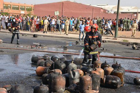 انفجار قنينات غاز يرعب سكان 3 أحياء ويستنفر الأمن بمراكش