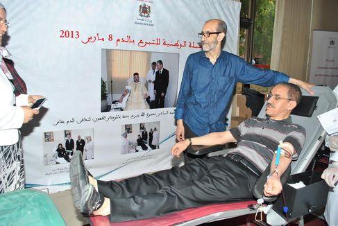 وزارة الصحة تنظم بمراكش، حفل إعطاء انطلاقة الحملة الوطنية للتبرع بالدم،  المنظمة من 14 إلى 30 يونيو 2014
