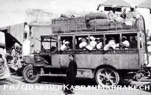 حافلات مراكش في الخمسينات