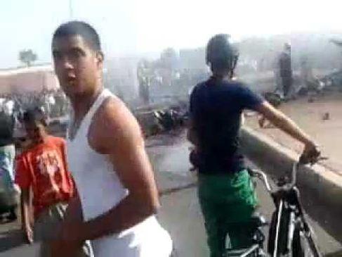 انفجار قنينات الغاز بمراكش